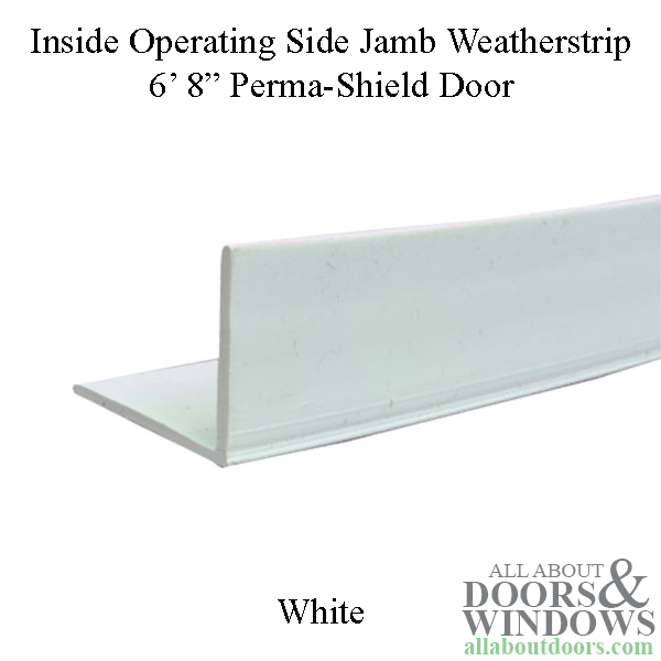 Andersen Side Jamb Weatherstrip Non Handed Inside 6 8 Operating White