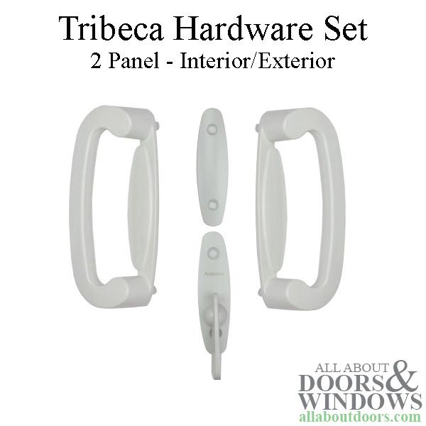 Andersen Frenchwood Gliding 2-Panel Door Trim Hardware Tribeca ... on
