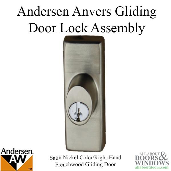 Andersen Window Frenchwood Gliding Door Keyed Lock Anvers