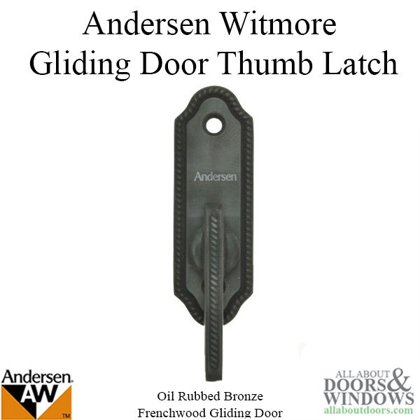 Andersen Frenchwood Gliding Door Thumb Latch Whitmore