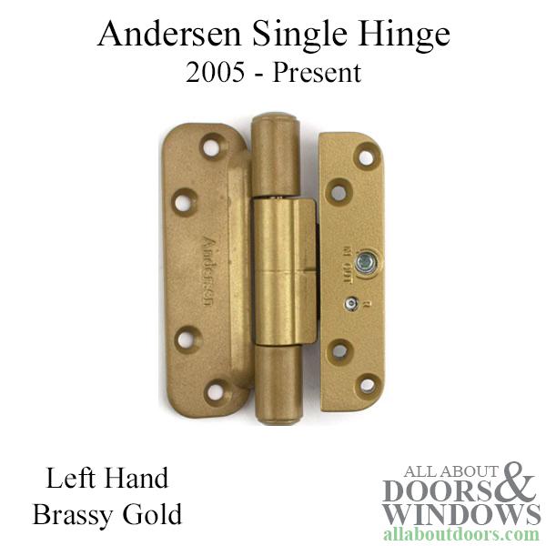 1 Hinge Kit 2005 Present Left Hand Gold Tone