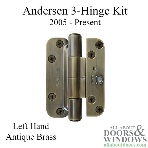 3 Hinge Kit 2005 Present Andersen Fwh Left Hand Door