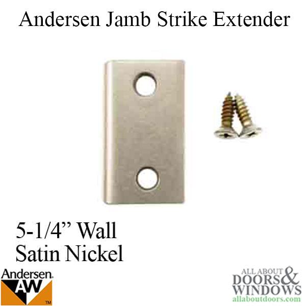 Andersen Jamb Strike Extender 1 3 32 Quot Satin Nickel