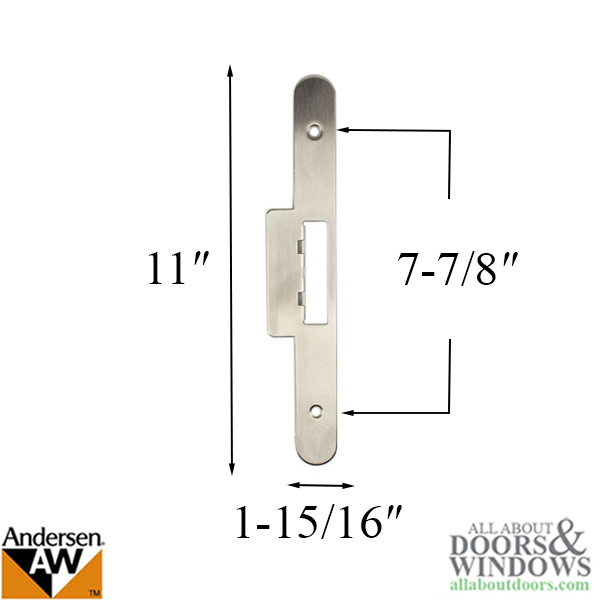 Andersen Latch Amp Deadbolt Strike Plate Cover Ap Pa Double Door Satin Nickel