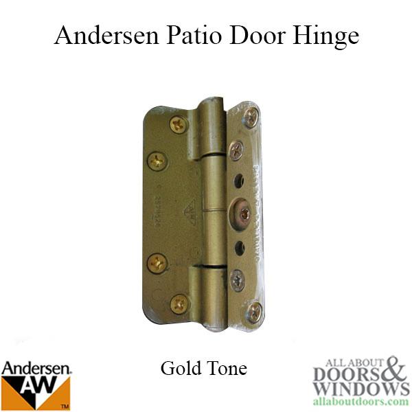 Andersen 1989 1991 Patio Door Hinge Gold Tone See Notes