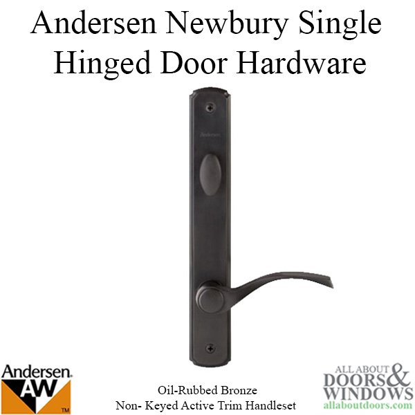 Oil Rubbed Bronze Handle Set For Andersen Hinged Door