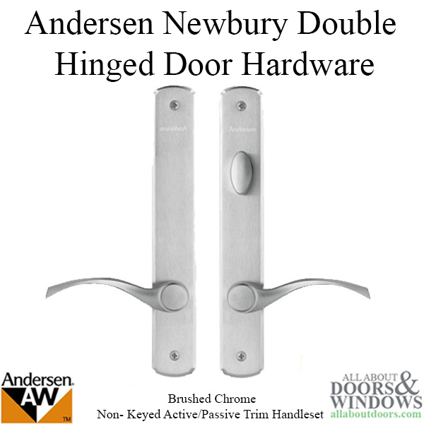 Andersen Brushed Chrome Newbury Double Door Active Frenchwood
