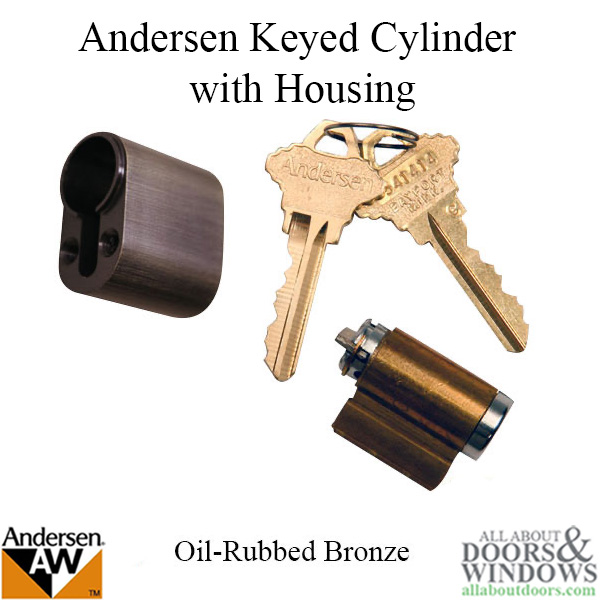 Andersen Keyed Cylinder With Housing Oil Rubbed Bronze