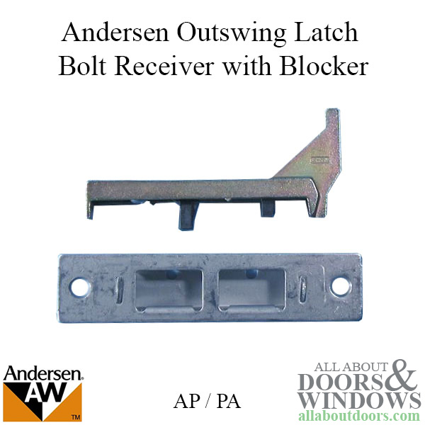 Andersen Latch Bolt Receiver With Blocker Fwo Ap Pa