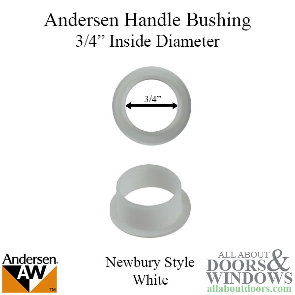 Bushing 3 4 Diameter Handle Andersen Tribeca Series White