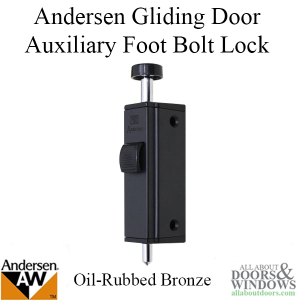 Andersen Auxiliary Foot Bolt Lock For Frenchwood Gliding