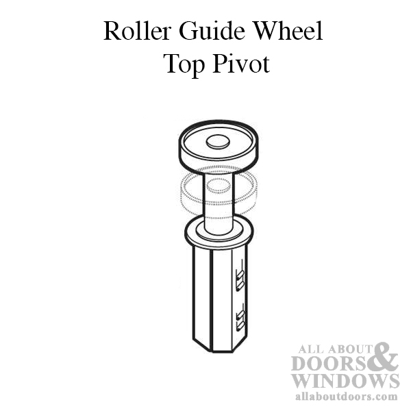 Roller Guide Wheel Top Pivot Wood Bi Fold Door Acme No