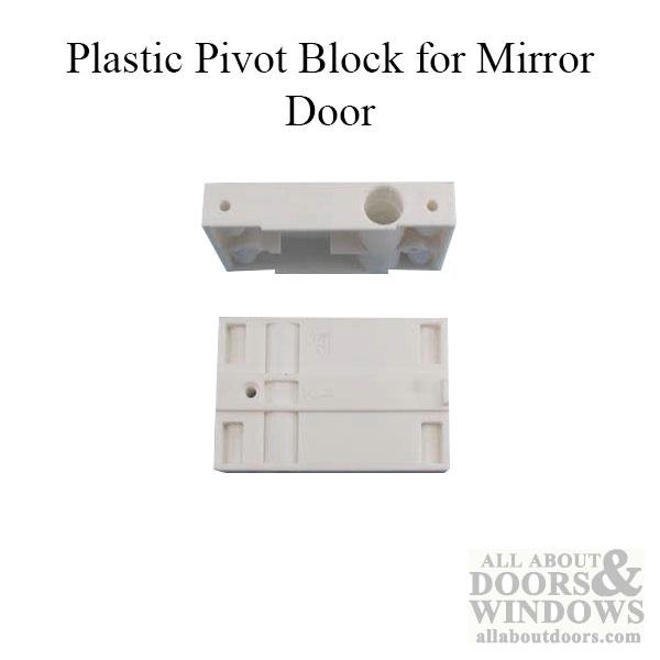 Acme Closet Door Part Pivot Block Plastic