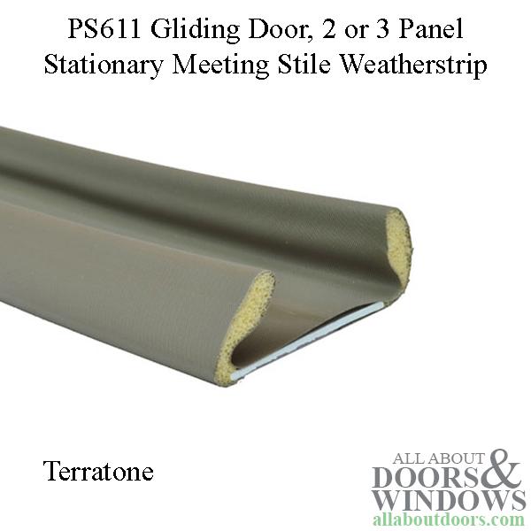 Andersen Perma Shield Gliding Door Lock Style Weatherstrip Stationary 3 Panel Terratone