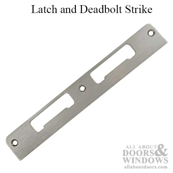 Latch Amp Deadbolt Strike Plate