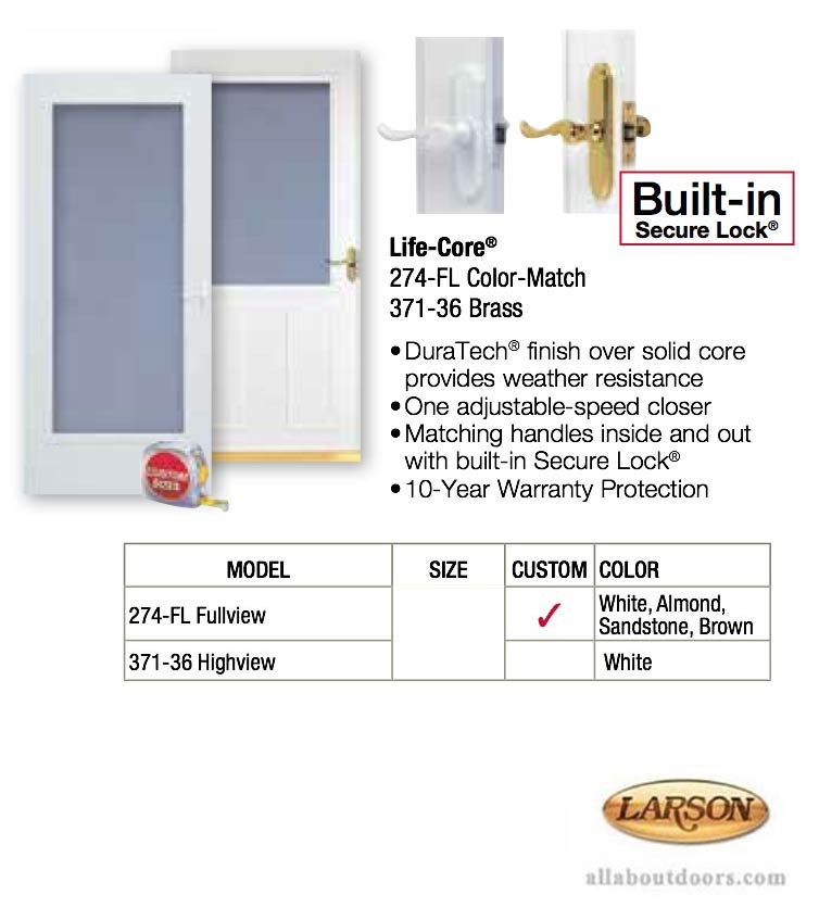 Larson Life Core Full View Storm Door