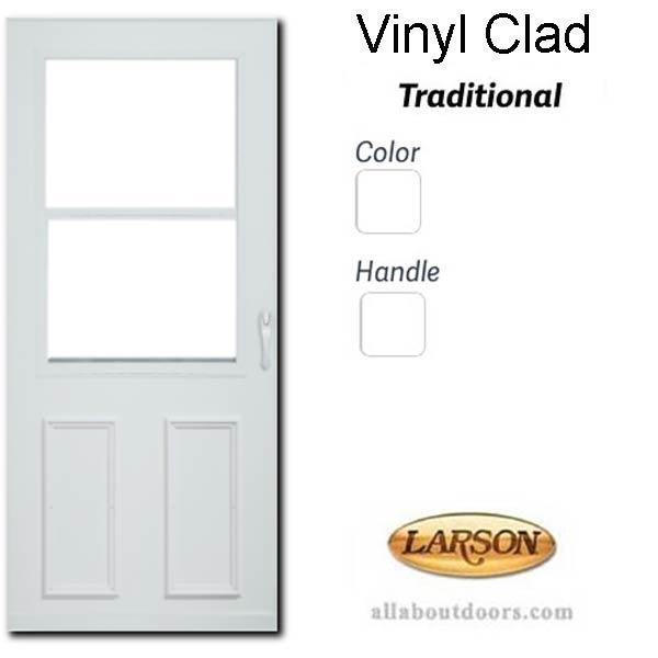 Vinyl Clad Self Storing Traditional Storm Door