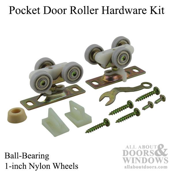 Ball Bearing Pocket Door Roller Hardware 1 Inch Wheels