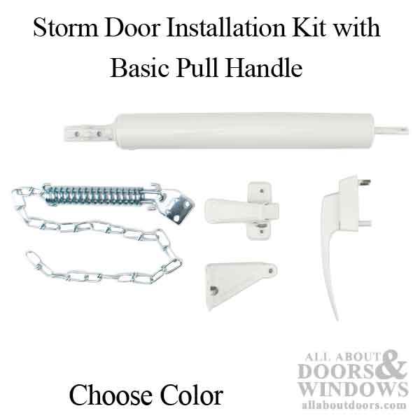 Storm Door Installation Kit Basic Pull Handle Choose Color