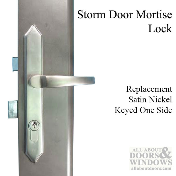 Storm Security Door Mortise Lock Satin Nickel