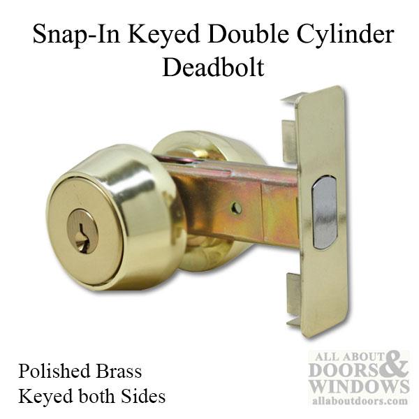 Double Cylinder Deadbolt Lock Brass Deadbolt All About