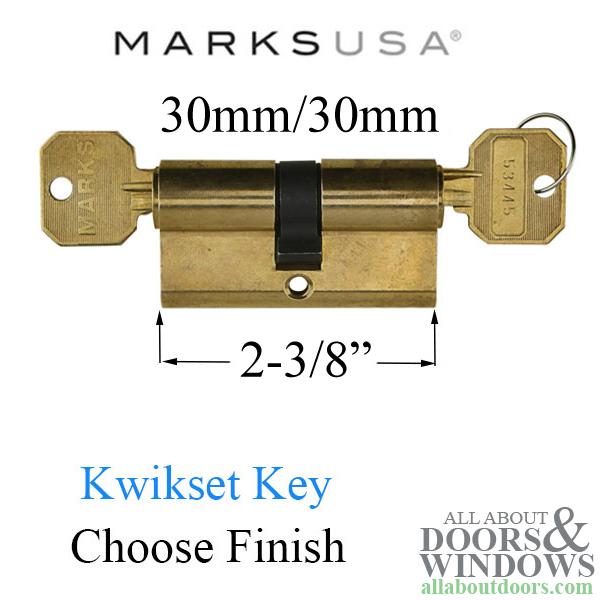 Marks Euro Slimline Double Key Profile Cylinder Kwikset