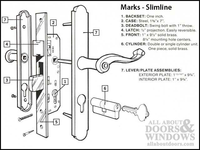 Marks Euro Slim Line Profile Cylinder Sc1 Key Choose Color