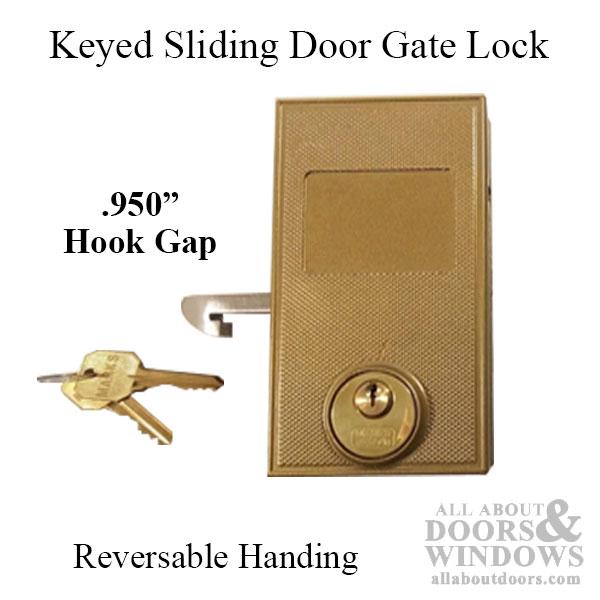 Marks Keyed Sliding Door Gate Lock 950 Hook