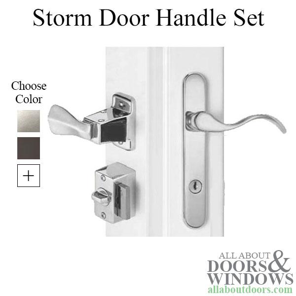 4 Post Storm Door Handle Set Accents Brighton Serenade