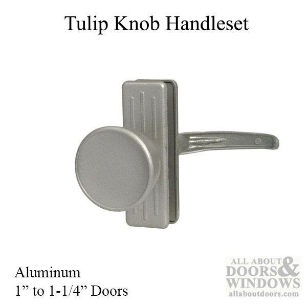 Tulip Shaped Handle Set Storm And Screen Door Aluminum