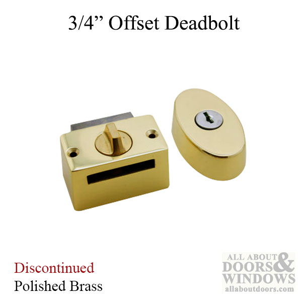 Deadbolt 3 4 Offset Storm Door Hardware Polished Brass