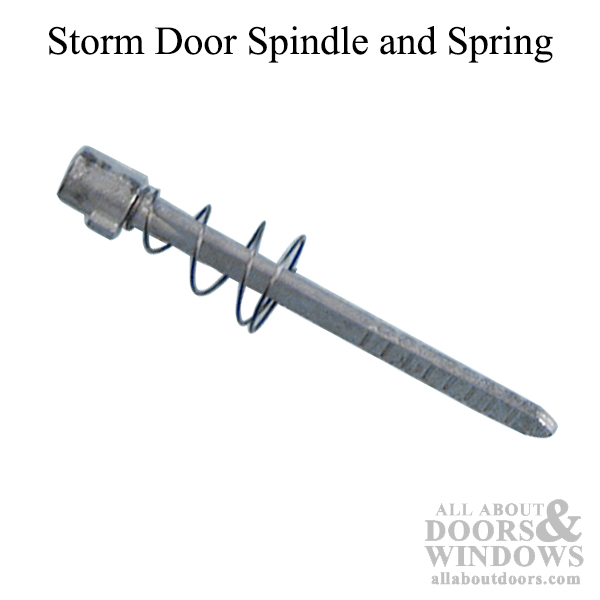 Spindle And Spring Storm Door Adjustable Length