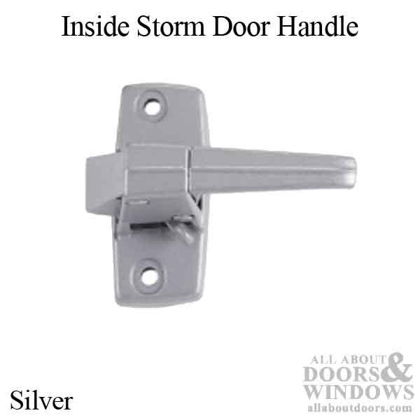 Inside Storm Door Handle Zd Flat Slot Silver