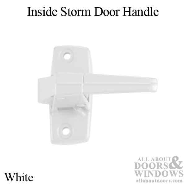 Inside Storm Door Handle Zd Flat Slot White
