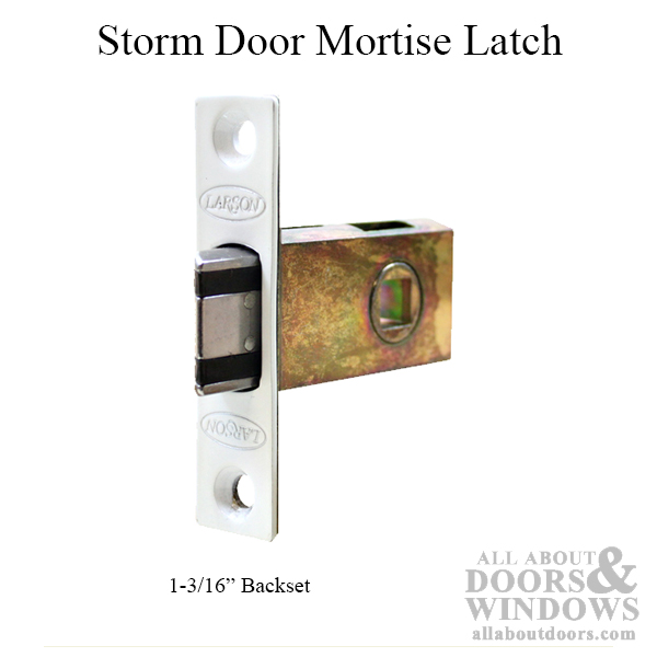 Larson Storm Door Mortise Latch 1 3 16 Backset White