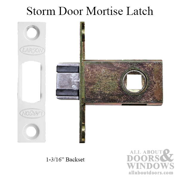 Larson Storm Door Mortise Latch 1 3 16 Backset White