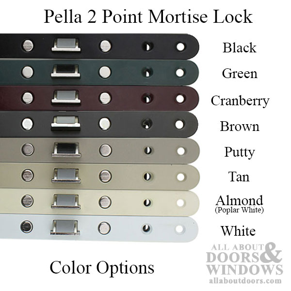 Shows 8 different lock colors available stacked on top of each other