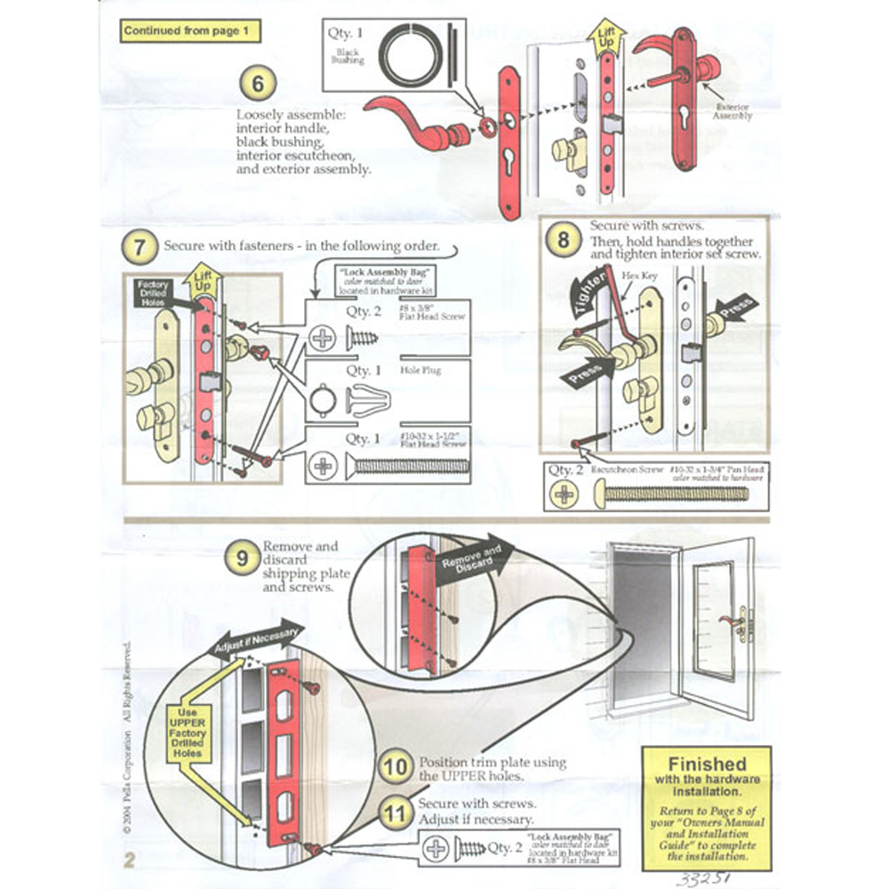 2nd part of installation instructions that show how to install mortise lock