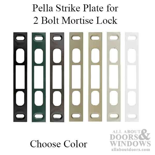 Pella Strike for 2 Bolt Mortise Lock - Choose Color