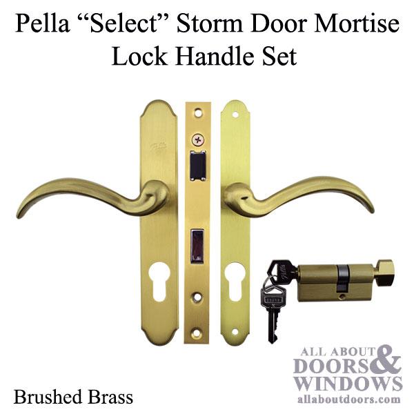 Pella Select 6000 Series Mortise Lock Storm Door Hardware Choose Color