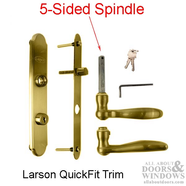 Larson Quickfit 5 Sided Spindle Storm Door Hardware Trim