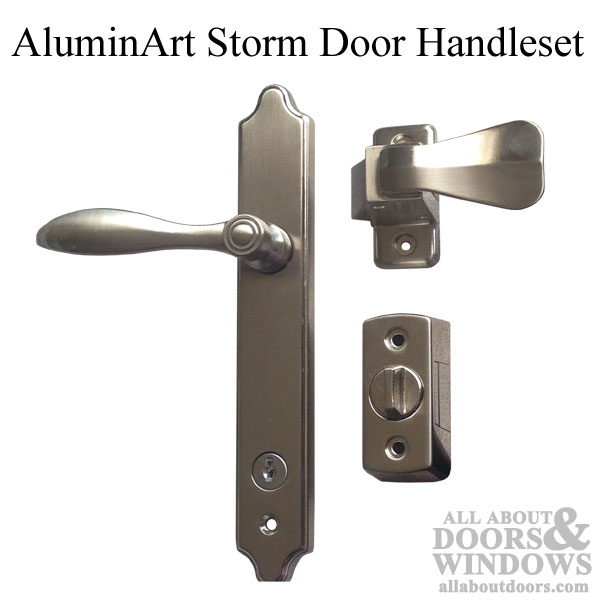 AluminArt Lever Handle Kit for Storm Door