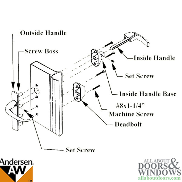 Emco Storm Door Replacement Handle Emco Handle Set