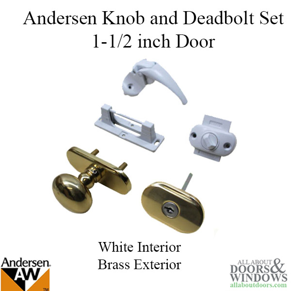 Andersen Emco Knob And Deadbolt Set 1 12 Inch Door