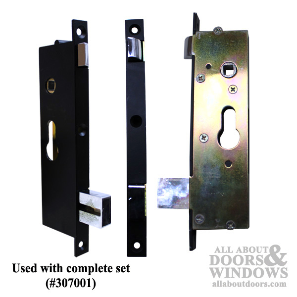 Academy Security Door Mortise Lock / Latch Assembly - Black