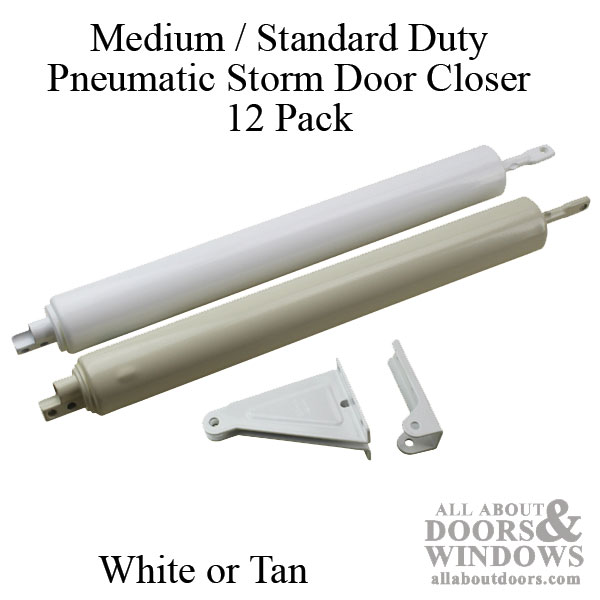 Medium Standard Duty Pneumatic Storm Door Closer 1 1 4 X