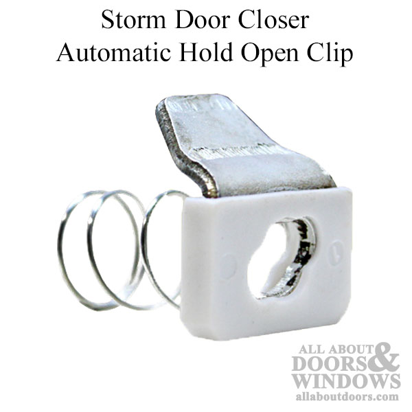 Automatic Hold Open Clip for Storm Door Closer