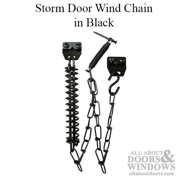 Wind Chain Storm Door Black