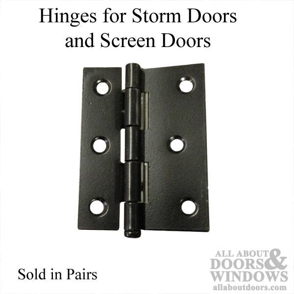 Hinges 2 3 8 X 3 Storm Screen Door Black 2 Pack