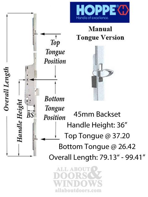 Hls One 3 Point Lock Kit Active System W 45mm Backset